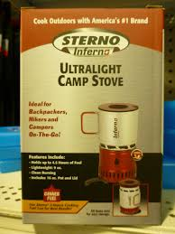 Sterno Candle Lamp Company by Sterno Inferno Model 70138 High Tech Sterno Backpacking Light