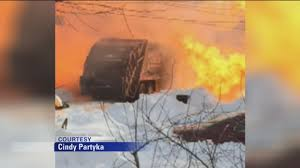 100 Truck Explosion Garbage Truck Explodes In Hamilton New Jersey Abc11com