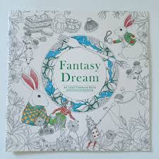 English Edition Fantasy Dream Coloring Book 24 Pages Secret Garden Styles For Adult Relieve Stress Painting