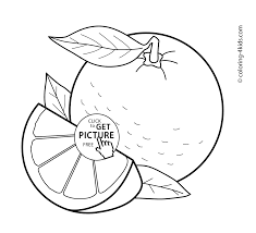 Awesome Collection Of Fruits Printable Coloring Pages Also Summary