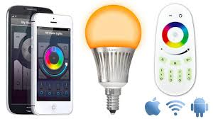 wifi kit with one 5w color warm white led bulb wifibox and
