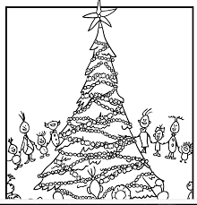 Cartoonjr The Grinch Who Stole Christmas Coloring Pages Whoville