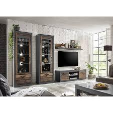 wohnzimmer vitrine im industrial design berlin 61 in mix dekor mit matera grau b h t ca 65 201 40 cm