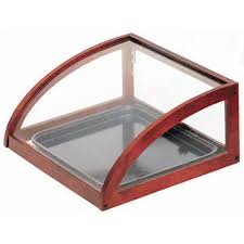 100 Countertop Glass Expressly HUBERT Mahogany Wood And Display Case 20L X 15W X 8H