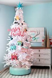 DIY Recycled Tire Christmas Tree Base Love This Colorful With Its Village Theme