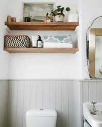 Grey Wall Paneling For Country Bathroom Plan With Hard Solid Shelves ... Bathroom Shelves Ideas Shelf With Towel Bar Hooks For Wall And Book Rack New Floating Diy Small Chrome Over Bath Storage Delightful Closet Cabinet Toilet Corner Decorating Decorative Home Office Shelving Solutions Adjustable Vintage Antique Metal Wire Wall In The Basement Inspiration Living Room Mirror Replacement Looking Powder Unit Behind De Dunelm Argos