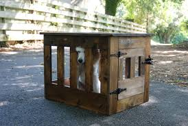 wood dog crate dog kennel end table wooden dog house rustic pet
