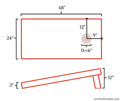 Bean Bag Toss Dimensions Cornhole Board Measurements