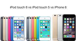iPod touch 6 vs iPod touch 5 vs iPhone 6 [Specs parison