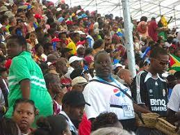 Barbados Cricket Fans Enjoying A Match