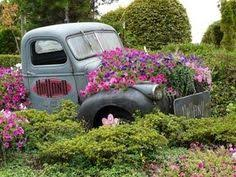 Old Truck Flower Bed