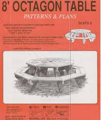 free octagon picnic table plans friendly woodworking projects