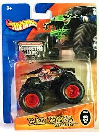 Amazon.com: Hot Wheels 2004 Monster Jam #28 Bad News Travels Fast 1 ... Monster Jam 25th Anniversary Trucks Wiki Fandom Powered Whosale Truck Car Toys With Remote Control For Children Amazoncom Hot Wheels 124 Scale Bkt Vehicle Games Rev Tredz Batman El Toro Loco 16 Catures 2018 Case C Super Trucker 34 List Of Styles Vary Toyworld 2017 Higher Education Color Treads Hot Wheels Monster Jam Truck Ice Cream Man Toy A Quick Review Maariv Intertional The Mini Hammacher Schlemmer Jellydog Pull Back Vechile Metal Friction Powered