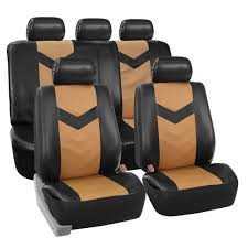 BESTFH: Faux Leather Car Seat Covers For Auto Tan W/ Heavy Duty ... Dog Car Accsories For Sale Travel Dogs Online Heavy Duty Design Universal Double Van Seat Cover From Direct Parts Universal Pu Leather Seat Covers Truck Van Front Amazoncom Universal Cover Case With Organizer Storage Muti Oxgord 2piece Full Size Saddle Blanket Bench Isuzu Dmax 2012 On Easy Fit Tailored Double Cab Bestfh Beige Faux Leather Auto Combo Wblack Solid Black For Set Wheavy Heavy Duty Seat W Arm Rests For Forklifts Tehandlers Premium Rear White Horse Motors 2 Headrests Floor