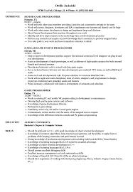 Download Game Programmer Resume Sample As Image File