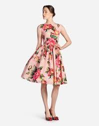 women u0027s dresses clothing for women dolce u0026gabbana printed cotton