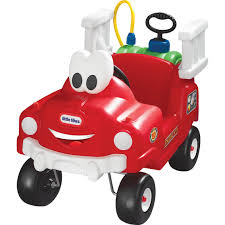 100 Little Tikes Classic Pickup Truck Spray Rescue Fire Pedal Push Baby Toys
