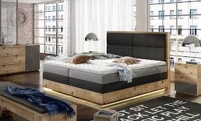 oak echtholz bett boxspring betten massiv holz polster design schlafzimmer neu