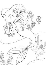 Coloring Pages Of Ariel The Little Mermaid Picture 19