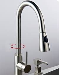 solid brass pull kitchen faucet nickel brushed finish 0759 in