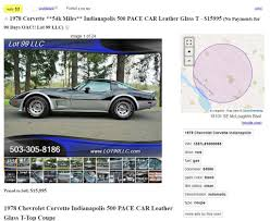 Corvettes On Craigslist: 1978 Corvette Indy 500 Pace Car Priced To ... Craigslist Crapshoot Hooniverse Dallas Cars And Trucks For Sale By Owner Best Indianapolis Free Stuff News Of New Car Release Indiana Class C Rvs For 233 Rvtradercom All In The Family 54 Years A Ngbeloved 196 Hemmings Daily Indy 500 Rarity 1979 Ford F100 Official Truck Replica 72018 Honda Used Dealer Carmel Elegant Twenty Images And By Indiana Search Results Ewillys Project Hell Pacecar Edition Oldsmobile Calais Or
