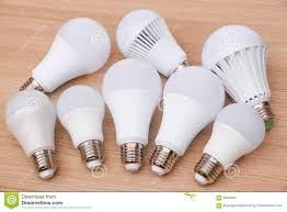 different types of led light bulbs stock image image 85453637