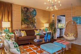 Retro Living Room And Plus Modern Decor Vintage