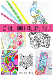 12 Free Adult Coloring Pages Designs Printables