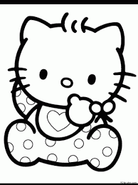 Hello Kitty Coloring Pages Page 1