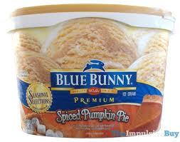 Pumpkin Pie Blizzard Calories Mini by Review Blue Bunny Seasonal Selections Spiced Pumpkin Pie Ice