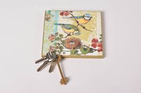Decorative Key Rack For Wall by Madeheart U003e Square Wall Handmade Key Holder Made Of Mdf With