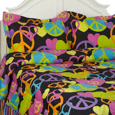Cool forter Sets With Masculine Peace Sign Pattern Motif For