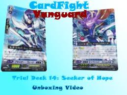 cardfight vanguard trial deck 14 and hs starter set unboxing