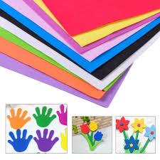 10Pcs DIY Foam Sheets A4 Handmade Paper Fun Funky Children Kids Hand Craft