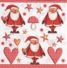 serviette de noel en papier noël serviette papier père noël et coeur 33 cm x 33 cm 3 plis pour