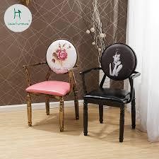 louis mode wohnzimmer stühle europäischen retro stuhl armlehne eisen kunst alten thema hotel kreative make up nagel zurück
