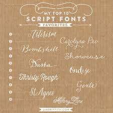 My Top Ten Favorite Script Fonts