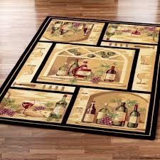 wine kitchen rugs cievi home