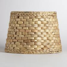 Burlap Lamp Shades Target by Natural Basket Table Lamp Shade World Market
