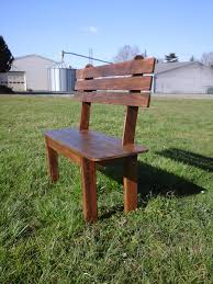 Pallet Outdoor Chair Plans by Bench Simple Pallet Bench Diy Outdoor Patio Furniture From