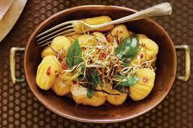 Pumpkin Gnocchi Recipe by Pumpkin Gnocchi With Leek U0026 Basil Butter