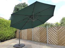 3 5m green cantilever parasol umbrella large hanging garden