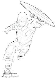 Coloring Captain Pages To America Civil War Black Panther