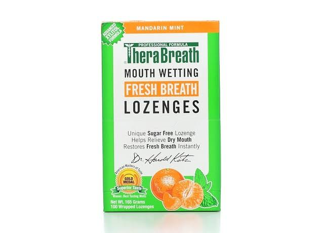 TheraBreath Dry Mouth Wrapped Lozenges - Mandarin Mint, 100ct, 165g