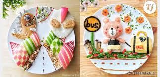 dressage des assiettes en cuisine maman transforme le repas de ses enfants en oeuvre d photos