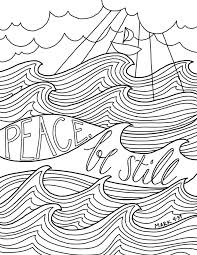 Free Coloring Page From Just What I In Peace Be Still A New