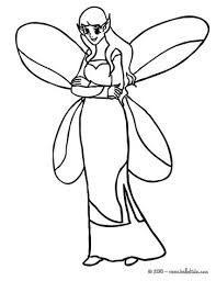 Well Dressed Winged Elf Coloring Page
