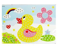 Mosaic Handwork Cartoon Paper Sticker Picture Toys Child Diy Toy Puzzle Crafts For Kids