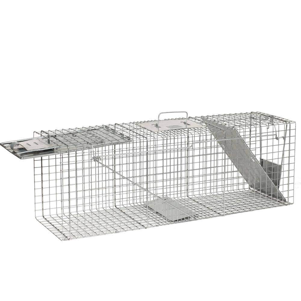 Havahart Live Animal Two-Door Raccoon, Stray Cat, Opossum, and Groundhog Cage Trap
