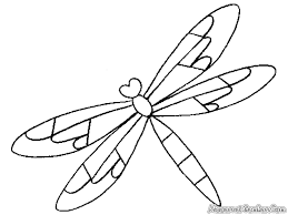 Dragonfly Coloring Pages Cute Mandala Pictures Book Simple Fine